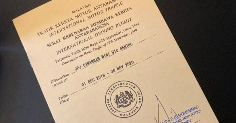 How To Apply International Driving License in Malaysia